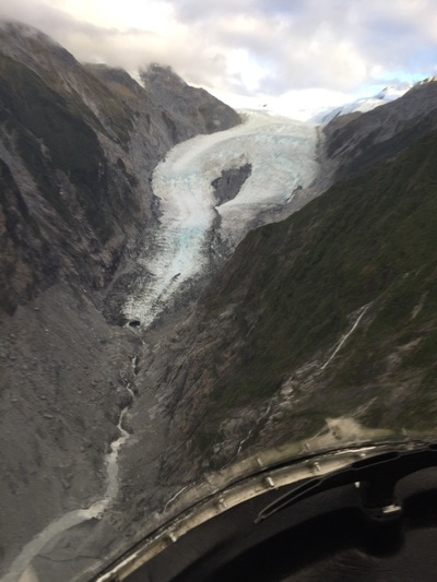 View of the glacier as it slowly recedes.